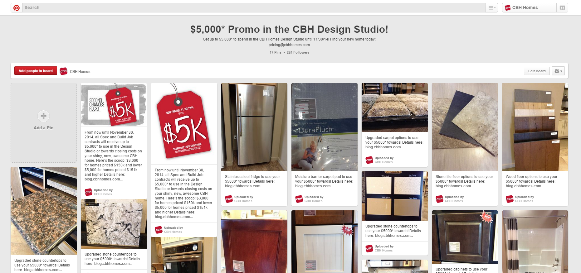 $5,000* Promo on Pinterest! - CBH Homes Blog