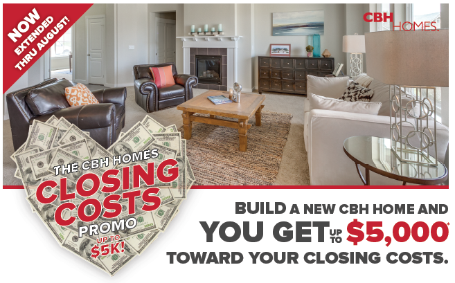 The CBH Homes Closing Costs Promo NOW Extended! - CBH Homes Blog