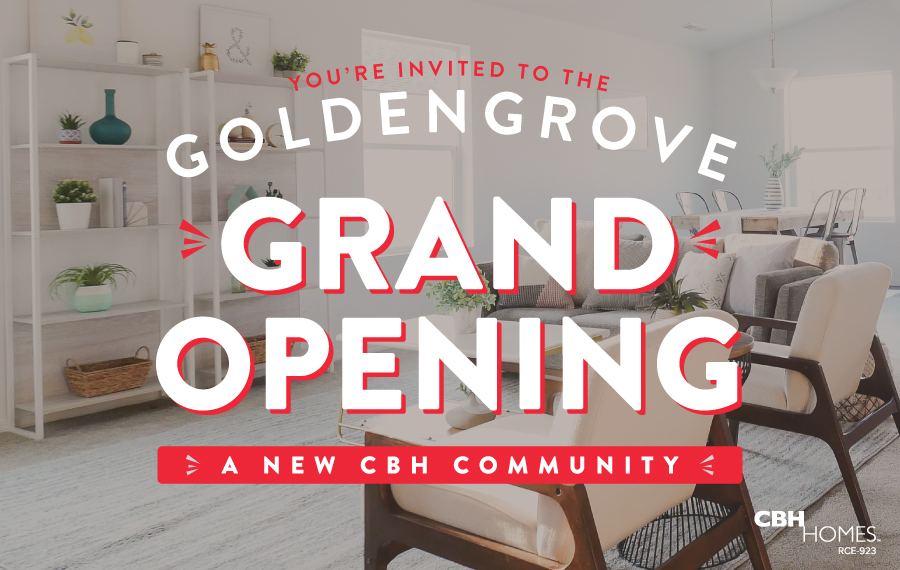 CBH Homes new launch of a great community, Goldengrove. Close to everything and dripping with upgrades!