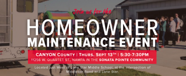 CBH Homes Homeowner Maintenance Event at the Sonata Pointe Community