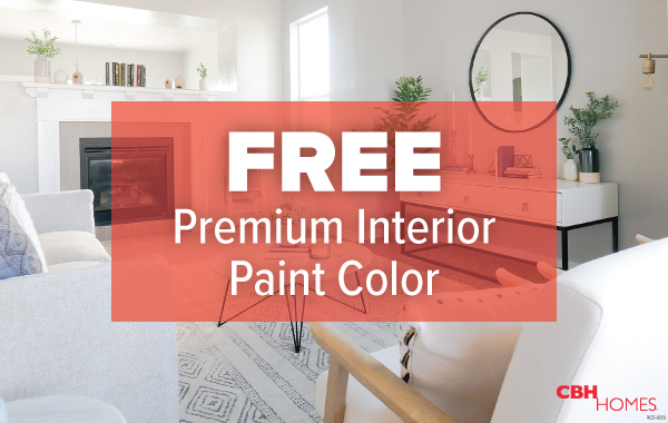 CBH Homes Free Premium Interior Paint Color - October Design Studio Promo