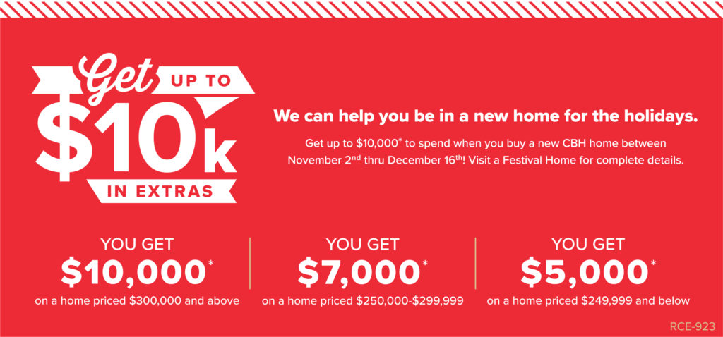 CBH Festival of Homes up to $10k Promo