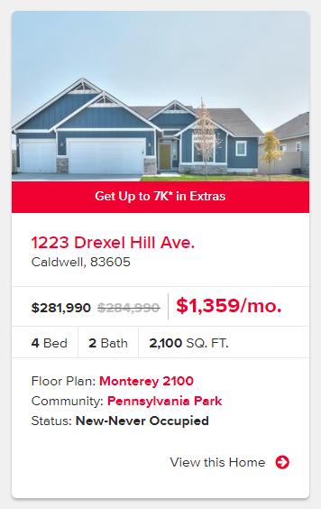 CBH Homes - Caldwell, Idaho - Get up to $7k Back