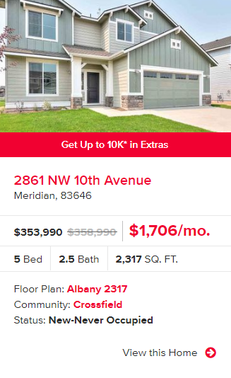 Get up to $10k in Crossfield!