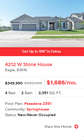CBH Homes up to $10k Promo Extended