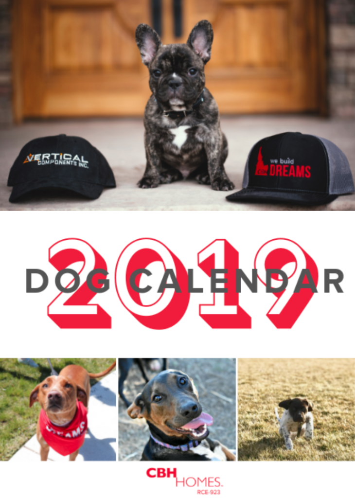 2019 CBH Homes Dog Calendar - CBH Dog Calendar