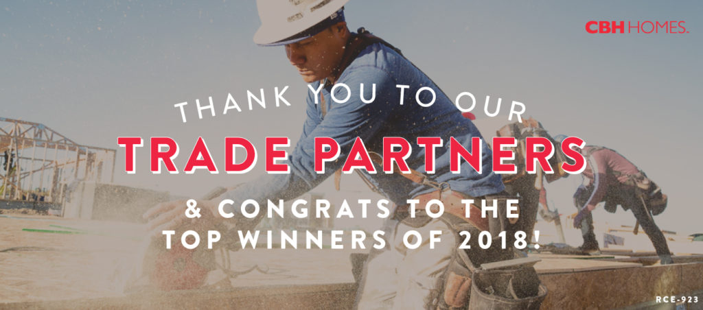 2018 CBH Homes Trade Partner of the Year
