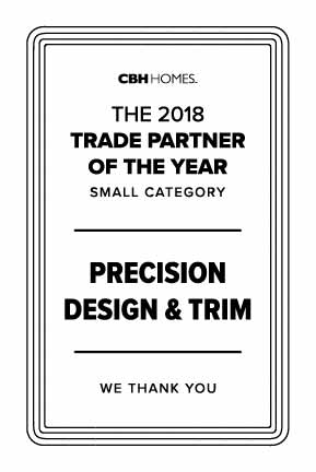 Precision Design and Trim Trade Partners of the Year 2018